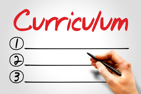 extramural: CURRICULUM blank list, education concept