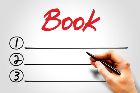 extramural: BOOK blank list, business concept Stock Photo