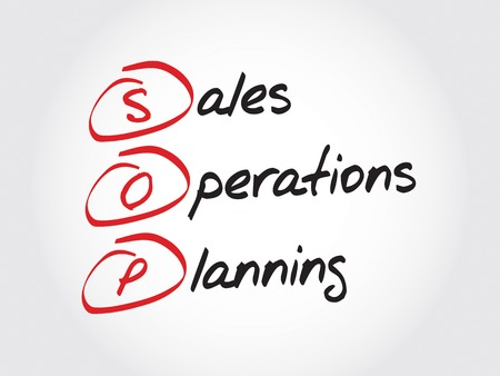 operations: SOP - Sales and Operations Planning, acronym business concept Illustration