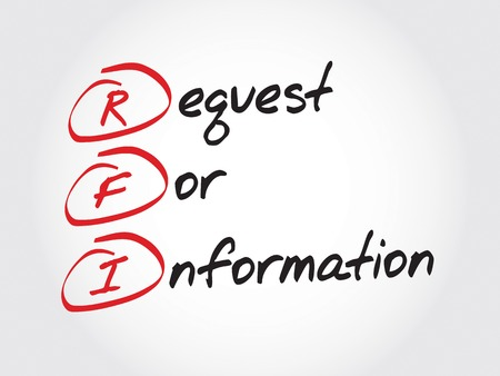 request: RFI Request For Information, acronym business concept Illustration