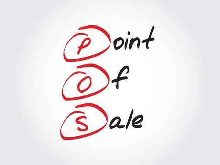 point of sale: POS - Point of Sale, acronym business concept Illustration