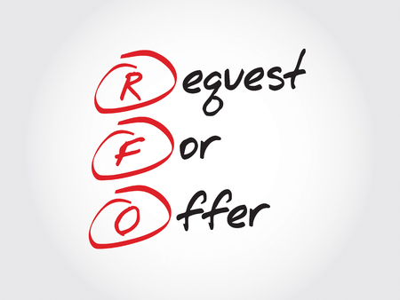 solicitation: RFO - Request For Offer, acronym business concept