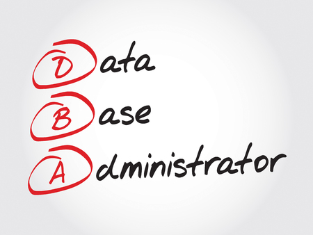 administrator: DBA - Database Administrator, acronym business concept Illustration
