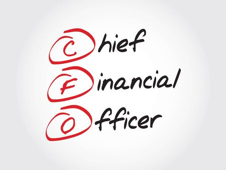 loss leader: CFO - Chief Financial Officer, acronym business concept