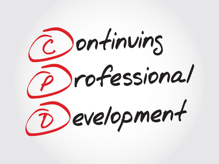 adults learning: CPD - Continuing Professional Development, acronym business concept