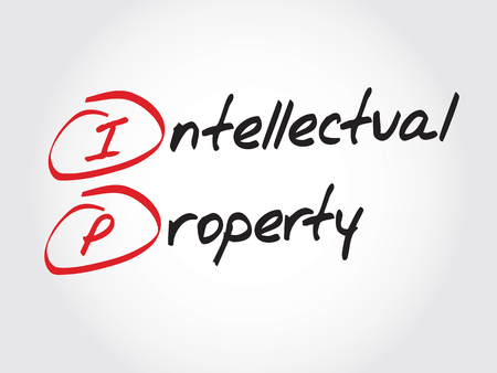 intellectual property: IP - Intellectual Property, acronym business concept Illustration
