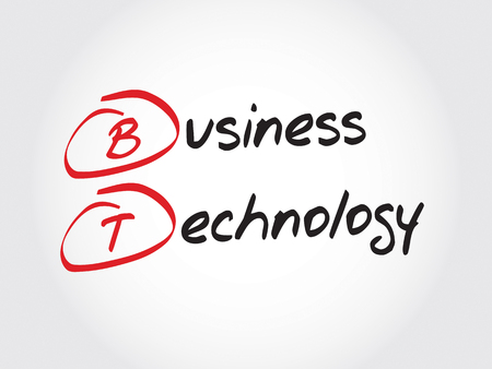 acronym: BT - Business Technology, acronym business concept