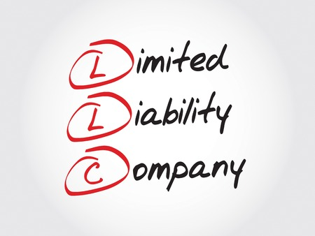 incorporate: LLC - Limited Liability Company, acronym business concept