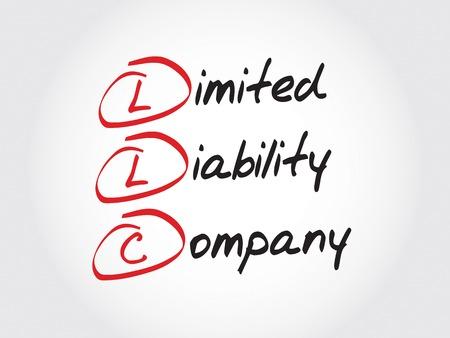 entity: LLC - Limited Liability Company, acronym business concept