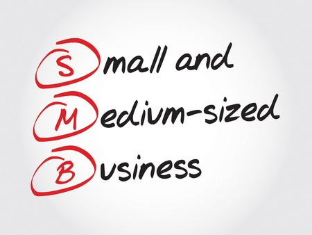 small business concept: SMB - Small and Medium-Sized Business, acronym business concept Illustration
