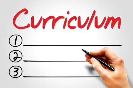 extramural: CURRICULUM blank list, education concept