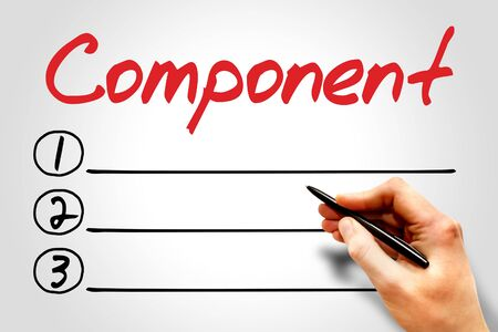 Component blank list, business concept Stock Photo