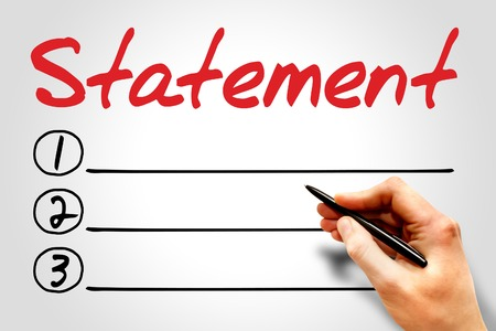 statement: Statement blank list, business concept