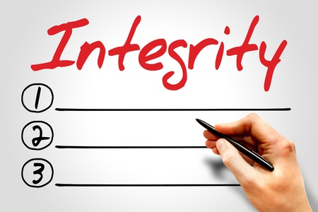 wholeness: Integrity blank list, business concept Stock Photo