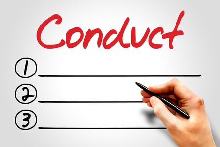 conduct: Conduct blank list, business concept