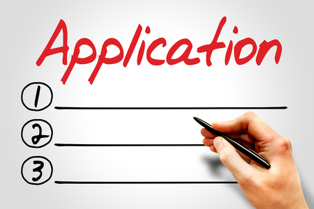 reloading: Application blank list, business concept