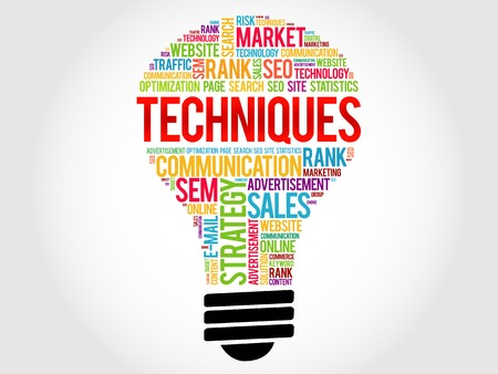 online analytical processing: Techniques bulb word cloud, business concept Illustration