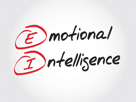 ei: EI - Emotional Intelligence, acronym business concept