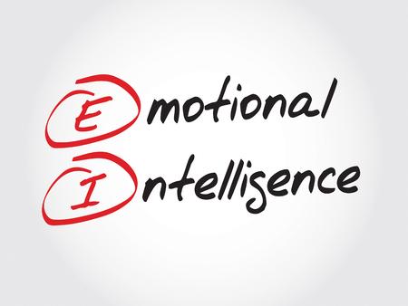 inteligencia emocional: EI - Inteligencia emocional, concepto de negocio acr�nimo