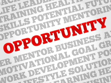 opportunity: Opportunity word cloud, business concept Illustration