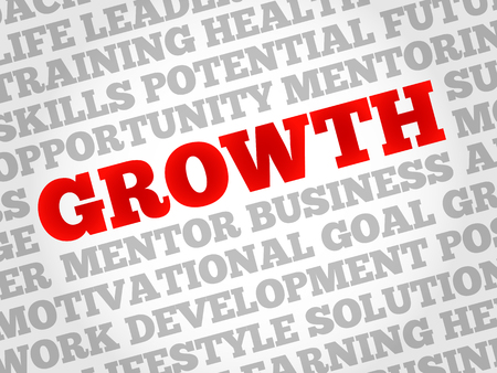 growth: Growth word cloud, business concept Illustration