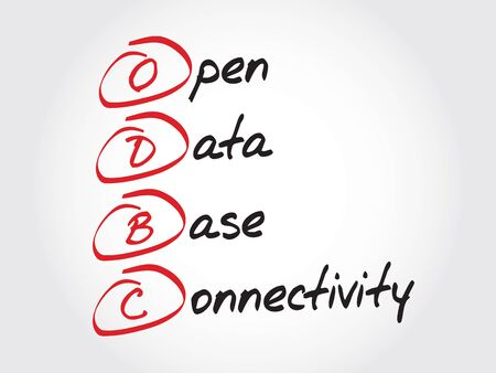 connectivity: ODBC Open Database Connectivity, acronym business concept