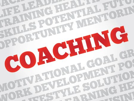 career coach: COACHING word cloud, business concept