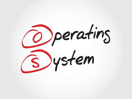 operating system: OS Operating System, acronym business concept