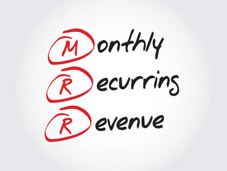 revenue: MRR - Monthly Recurring Revenue, acronym business concept