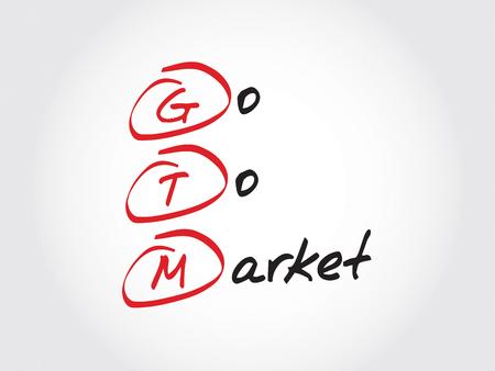 acronym: GTM - Go To Market, acronym business concept