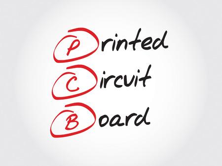 pcb: PCB Printed Circuit Board, acronym concept