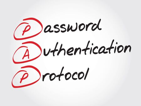 protocol: PAP Password Authentication Protocol, acronym concept