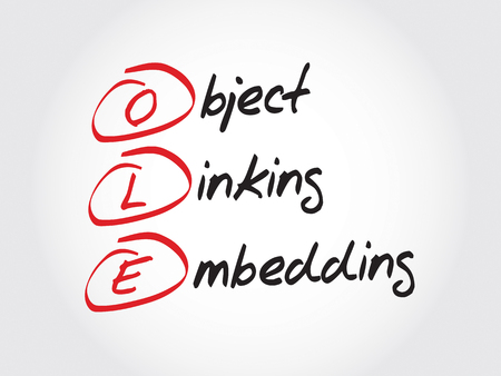 mise en relation: OLE Object Linking and Embedding, concept acronyme