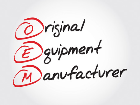 OEM Original Equipment Manufacturer, acronym concept  イラスト・ベクター素材