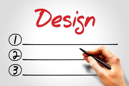 dynamic html: Design blank list, business concept