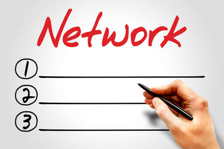 cyber defence: Network blank list, business concept
