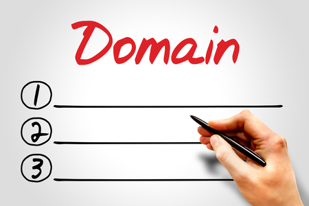 dynamic html: Domain blank list, business concept