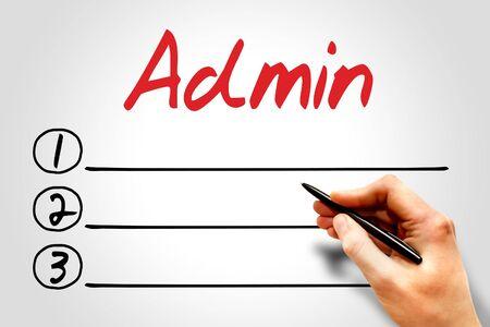 ADMIN: Admin blank list, business concept