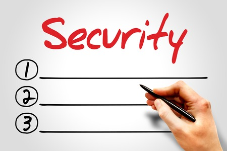 trojanhorse: Security blank list, business concept Stock Photo