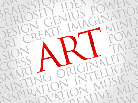 webdesigner: Art word cloud, business concept Illustration