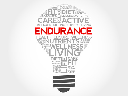 endurance: ENDURANCE bulb word cloud, health concept Illustration