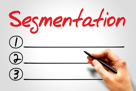 segmentaci�n: Segmentation blank list, business concept