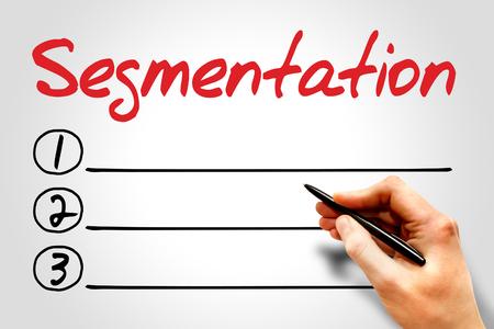 relationsip: Segmentation blank list, business concept