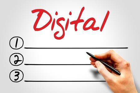 decoding: Digital blank list, business concept
