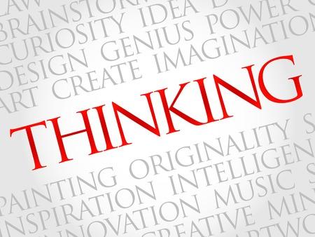 positivismo: Pensando nube de la palabra, concepto de negocio