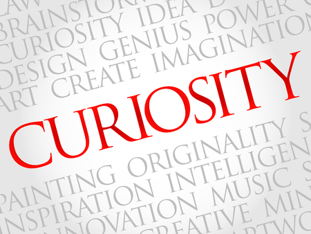 Curiosity word cloud, business concept Illustration