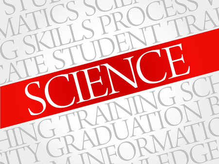 interdisciplinary: SCIENCE word cloud, education concept Illustration