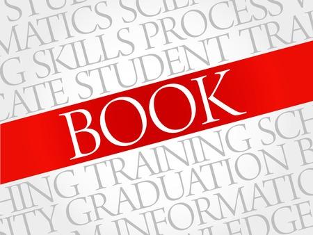 BOOK word cloud, education business concept Illustration