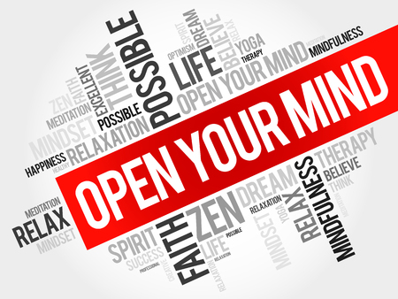 education background: Open your mind word cloud concept