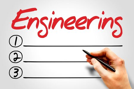 build buzz: Engineering blank list, business concept
